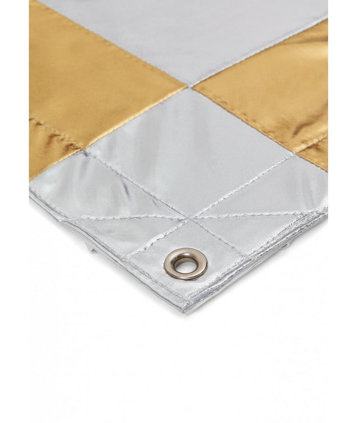 Reflector Shiny Check Silver / Gold 48″x48″